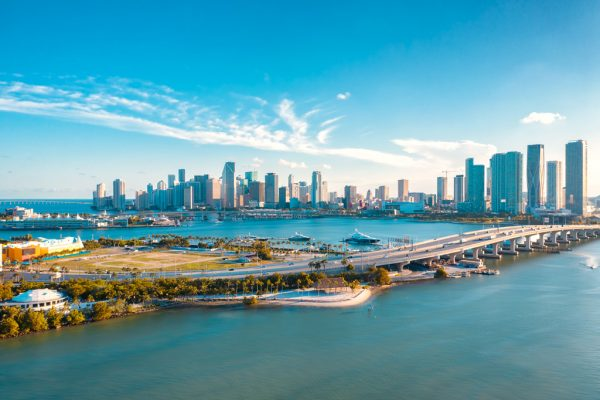 Downtown Miami Sunset
