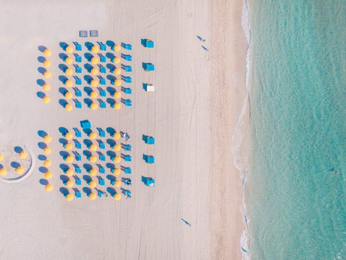 South Beach Colorful Umbrellas